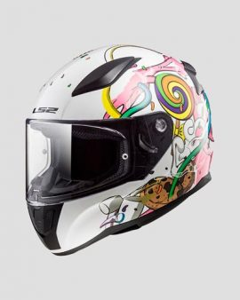 Casco Rapid Mini LS2 Crazy Pop (White Pink) Infantil